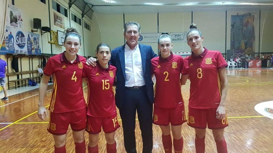 'Ellas También Juegan'  Hablamos con las cuatro murcianas de la Selección Española de Fútbol Sala