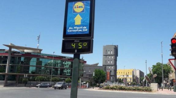 Temperatura, este sábado, a las 14:30 horas en Murcia. ORM