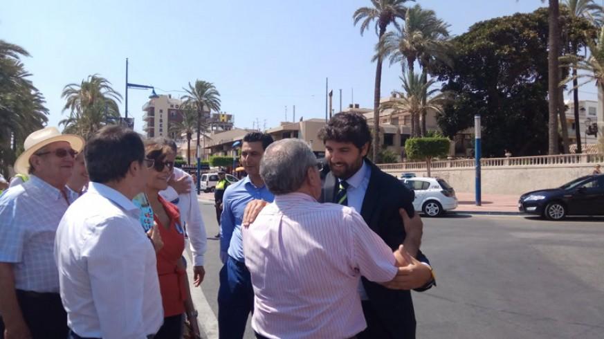 López Miras en su visita a San Javier
