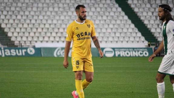Santi Jara, en el último partido contra el Córdoba