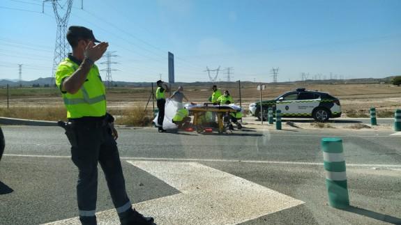 Accidente de tráfico múltiple en la A-7 entre Alcantarilla, Murcia y Librilla