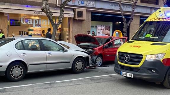 Imagen del impacto este lunes en Murcia