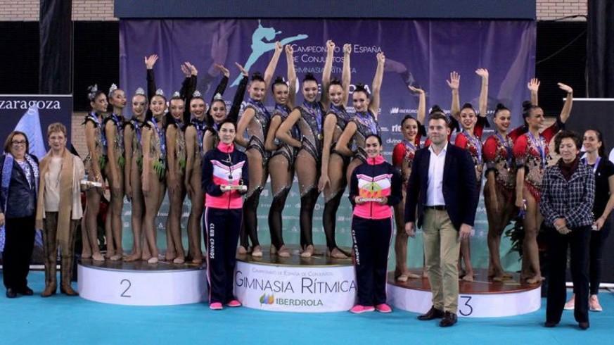 El Club Cronos de Gimnasia Rítmica consigue un Oro histórico