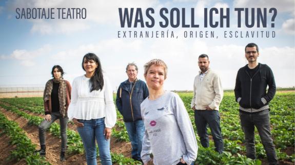 Una obra de teatro denuncia la explotación laboral en la Región de Murcia