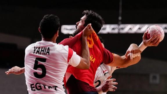 Raúl Entrerríos, en un lance del partido por el bronce
