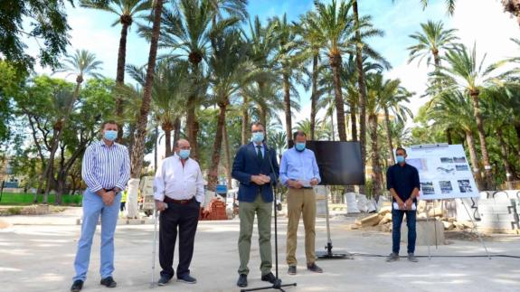 Presentación del proyecto de remodelación del entorno del Palmeral de La Paz. Ayuntamiento de Murcia.