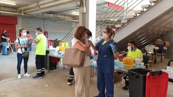 Vacunación en Nueva Condomina. ORM