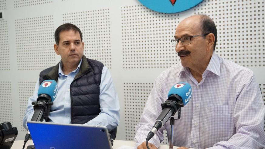 José Antonio García y Adolfo Falagán durante la entrevista