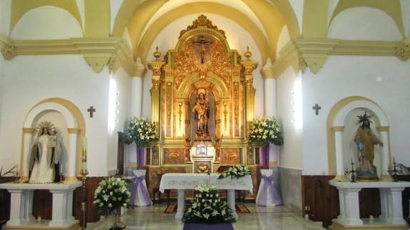 Interior de la parroquia de Santa Gertrudis