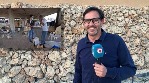 Marcial Guillén y fotografía tomada durante la realización del proyecto