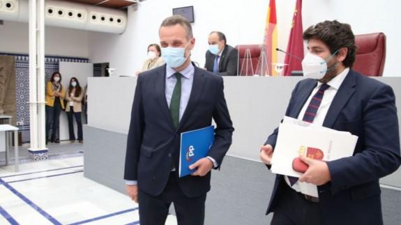 Segado y López Miras en la Asamblea Regional. GPP