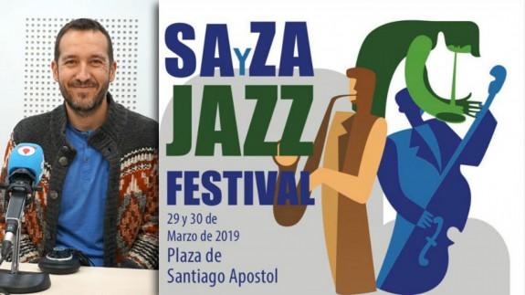 Toni Peña y cartel del III SAyZA Jazz Festival