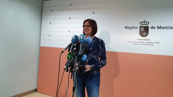 Isabel Franco este lunes en rueda de prensa.