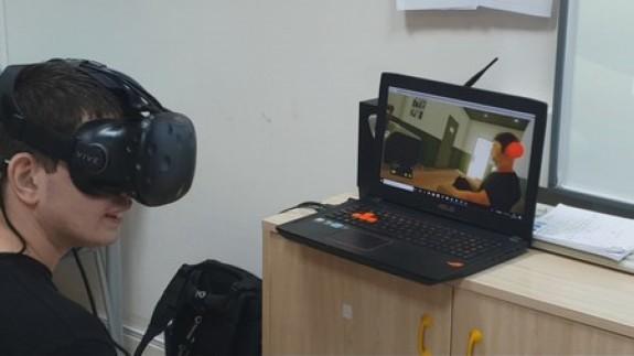 Sistema de realidad virtual empleado por Answare Tech