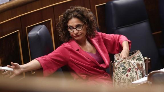 Mª Jesús Montero en el Congreso