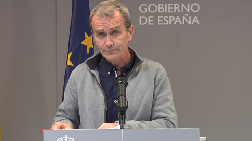 Fernando Simón, en la última comparecencia de prensa