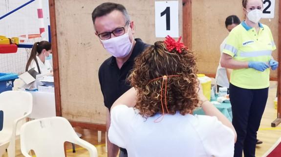 Diego Conesa ha recibido la vacuna contra el coronavirus esta tarde. ORM