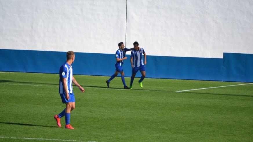 Los jugadores del Águilas celebran un gol en un partido anterior