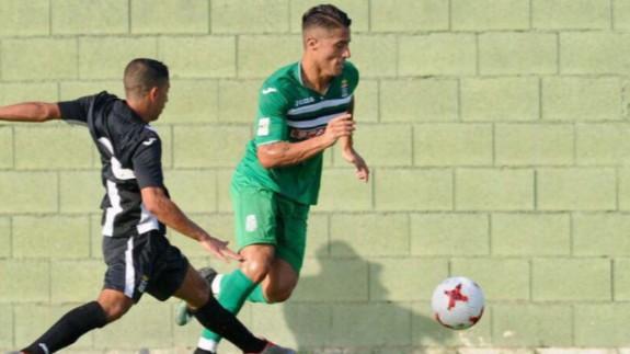 Hugo Rodríguez en su etapa en el Cartagena