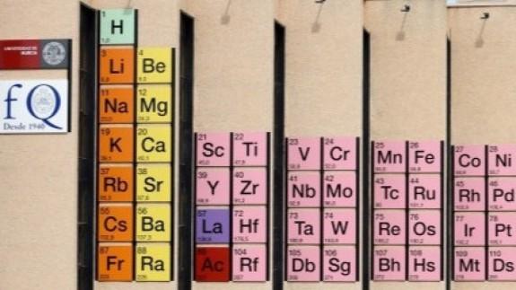 Tabla periódica en la Facultad de Química de la UMU