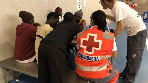 Voluntarios de Cruz Roja Murcia en Cádiz