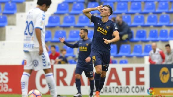 Tito celebra el gol del UCAM