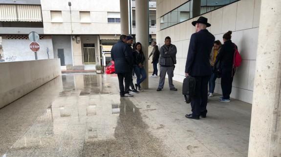Esta mañana en los juzgados de San Javier. JUAN SAURA