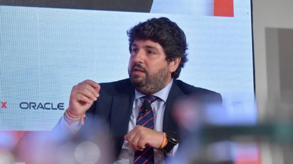 Fernando López Miras durante su intervención en las jornadas de 'El Economista'.