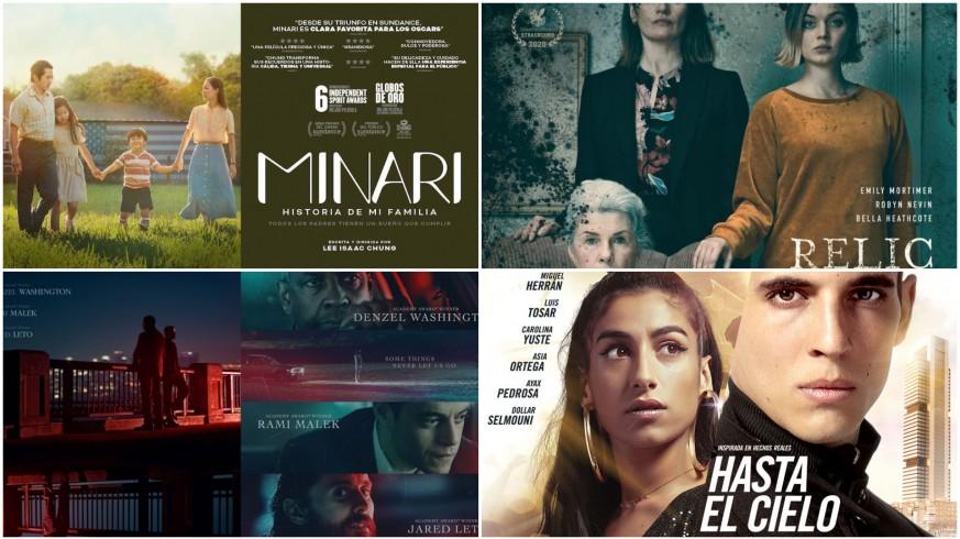 Carteles de cuatro películas