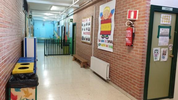 Pasillo de un colegio de Murcia. ORM