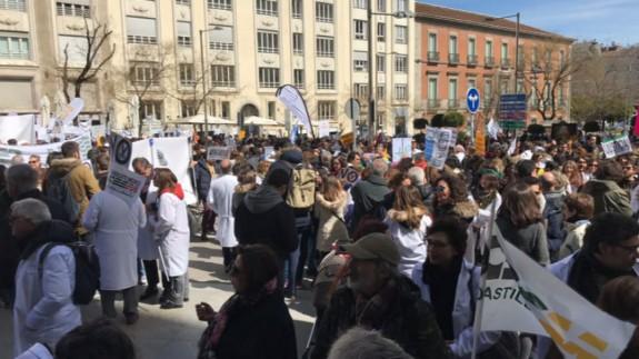 Manifestación de médicos en Madrid. SINDICATO CESM