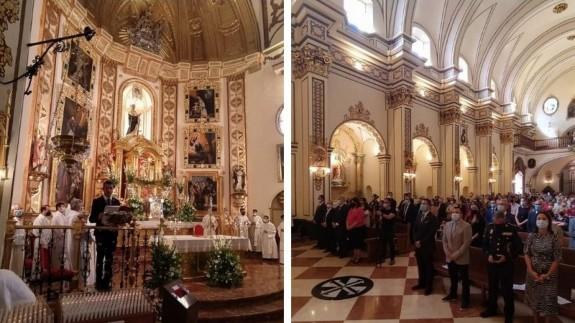 Iglesia de Santo Domingo durante la celebración de la Eucaristía. PIÑERO