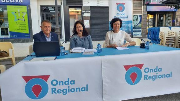 Miguel Massotti, Marta Ferrero y María Ángeles Túnez en Puerto Lumbreras