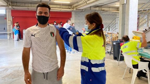Últimas vacunas administradas en el estadio Enrique Roca de Murcia. ORM