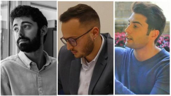 Luis Romero, Salvador Moreno y Miguel Cobacho.