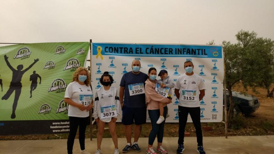 Jose Bautista y Pepi Villalba, los padres de Marta, con Claudia que está terminando el tratamiento y Pedro que está en plena batalla