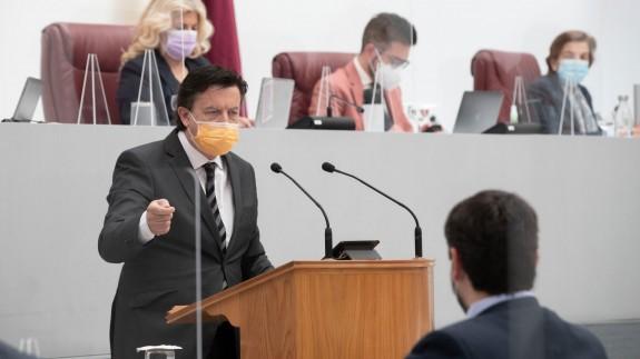 Juan José Molina durante una intervención parlamento regional. ASAMBLEA REGIONA