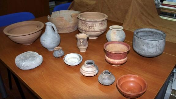 Algunas de las piezas recuperadas por la Guardia Civil.