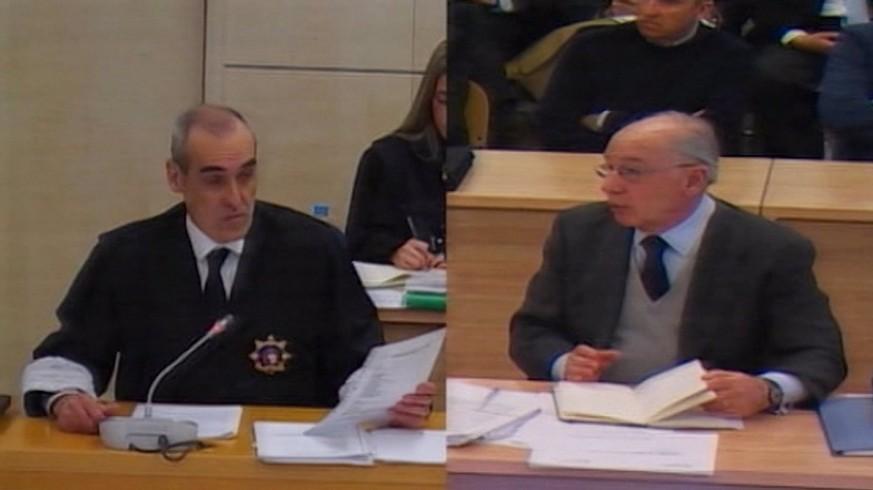 Sesión de interrogatorio por parte de la Fiscalía Anticorrupción a Rato