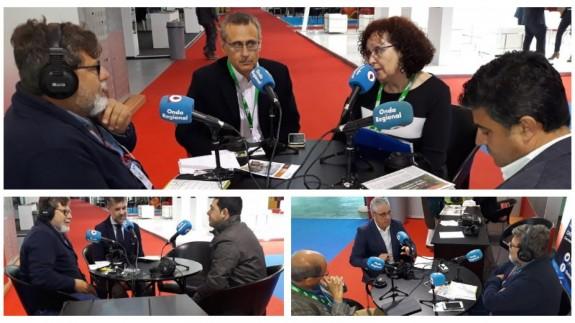 Fernando Vera con los invitados que ha tenido esta mañana en IFEPA