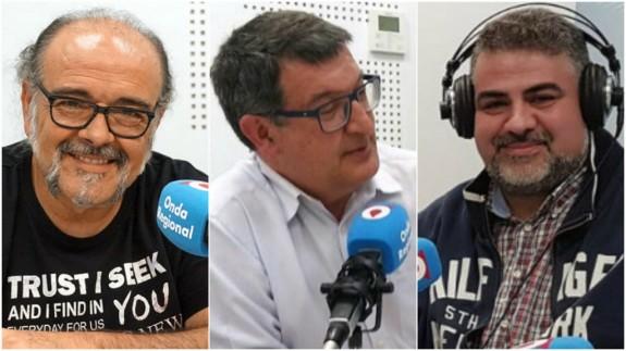 Antonio Saura, Pedro Quílez y Laureano Buendía