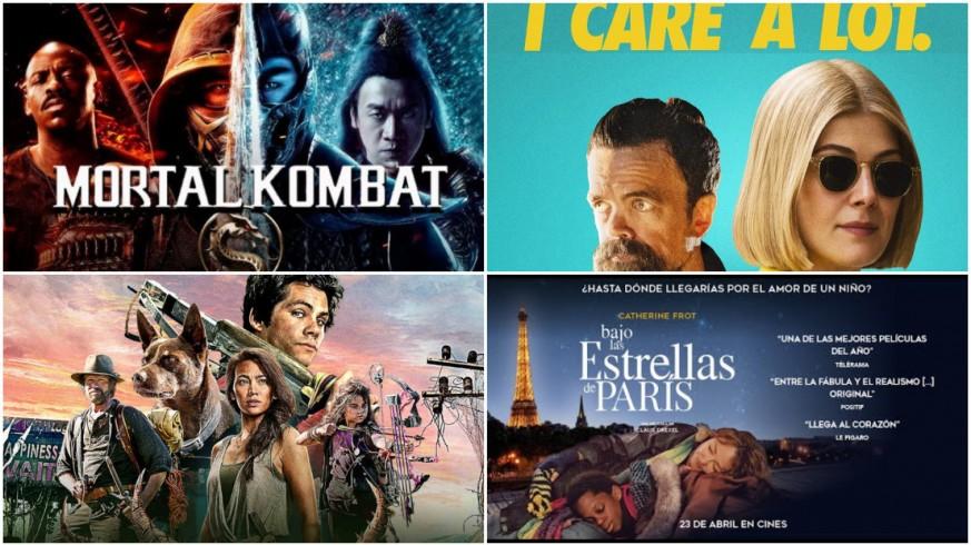 Cuatro carteles de películas