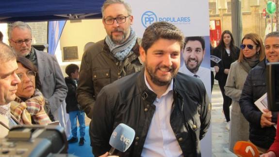 López Miras el pasado miércoles en un acto del PP