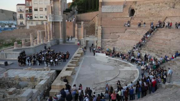 Teatro Romano en la Noche de los Museos 2017 (foto: Ayto. de Cartagena)