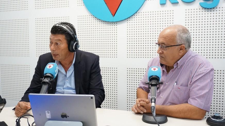 Manuel Martínez y Miguel Padilla en los estudios de Onda Regional
