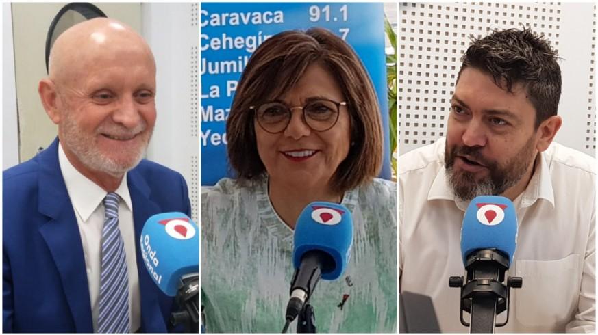 Domingo Coronado, Rosa Peñalver y Miguel Sánchez