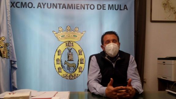 Juan Jesús Moreno, alcalde de Mula. J.L.PIÑERO