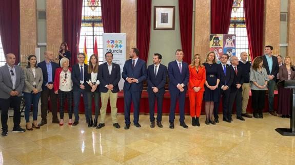 Acto celebrado en el ayuntamiento de Murcia