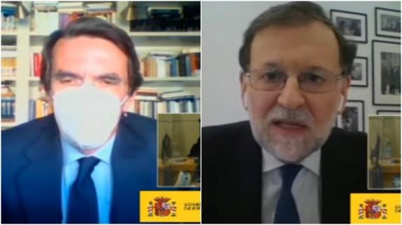 Aznar y Rajoy en sus declaraciones por videoconferencia
