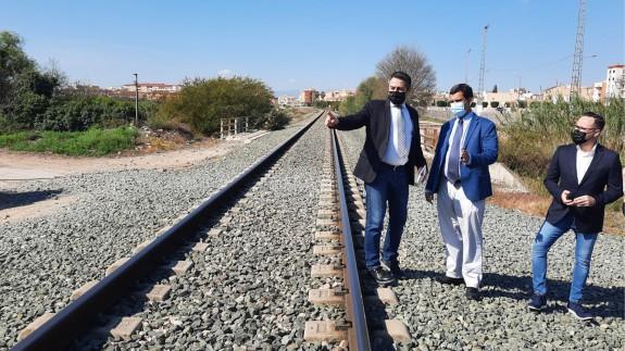 El alcalde de alcantarilla junto al consejero de Fomento visitan la zona
